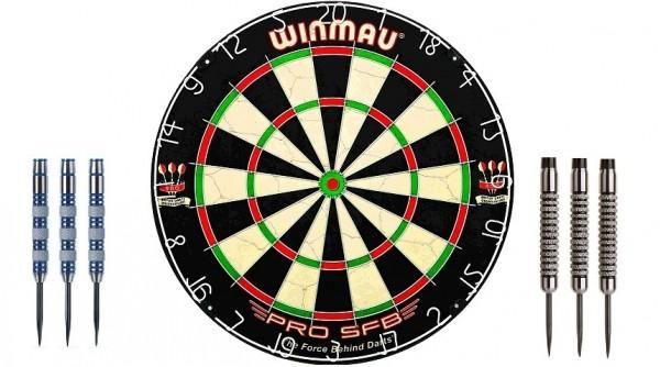 Winmau Pro SFB Bundel mit 2 Sets Darts - 21g & 23g