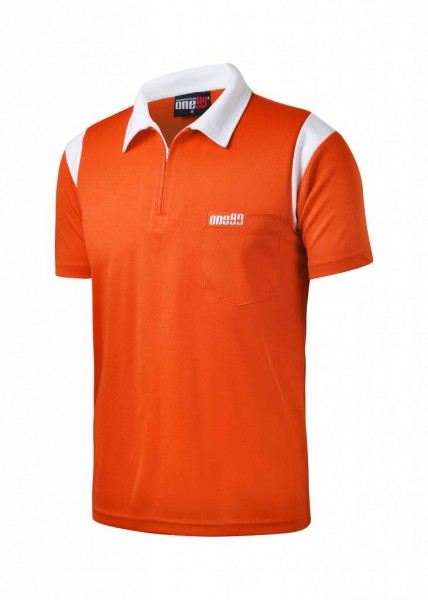 one80 Polo-Dartshirt orange-white