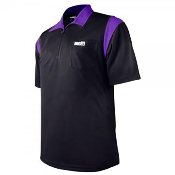 one80 Polo-Dartshirt schwarz-lila