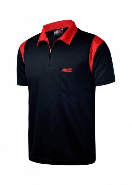 one80 Polo-Dartshirt schwarz-rot