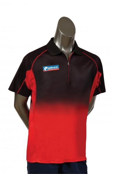 Unicorn Pro Dartshirt schwarz-rot