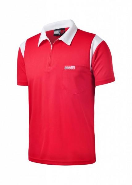 one80 Polo-Dartshirt rot-weiß