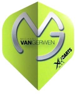 XQmax Michael van Gerwen MVG Logo green-grey - Standard