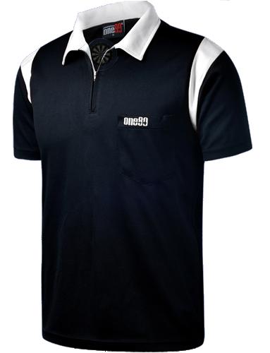 one80 Polo-Dartshirt schwarz-weiß