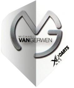 XQmax Michael van Gerwen MVG Logo white-grey - Standard